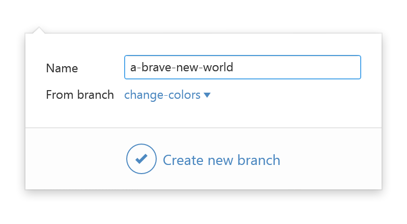 Create a branch